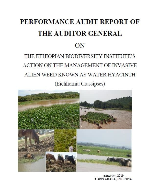 Ethiopia_PA report on the management of invasive alien weeds_cover